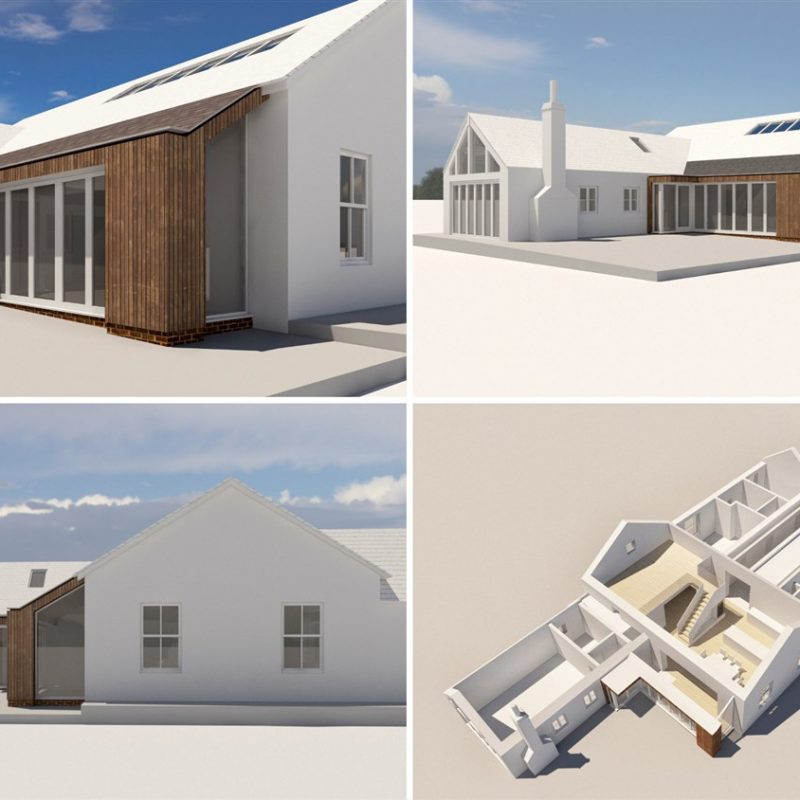 Initial scheme visuals including extension